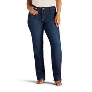 Lee Riders Slim Straight Dark Denim Jeans